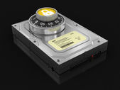 Hard Drive Protection (clipping path included) — Stock Photo