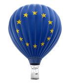 Hot Air Balloon with European union Flag — Stock Photo