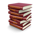 Stack of Books with Support Concepts (clipping path included) — Stock Photo