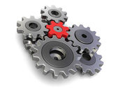 Cogwheels (clipping path included) — Stockfoto