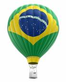 Hot Air Balloon with Brazillian Flag (clipping path included) — Stock Photo