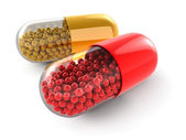 Pills (clipping path included) — Stock Photo