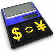 Calculator and Currency (clipping path included) — Stock Photo #70574507