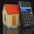 House and Calculator (clipping path included) — Stock Photo #70577959