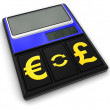 Calculator and Currency (clipping path included) — Stock Photo #70887293