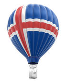 Hot Air Balloon with Icelandic Flag (clipping path included) — Stock Photo