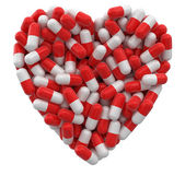 Heart from Pills (clipping path included) — Stock Photo