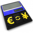 Calculator and Currency (clipping path included) — Stock Photo #71087381