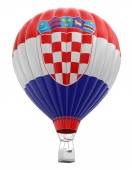 Hot Air Balloon with Croatian Flag (clipping path included) — Stock Photo