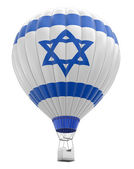 Hot Air Balloon with Israeli Flag (clipping path included) — Stock Photo