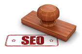 Stamp SEO — Stock Photo