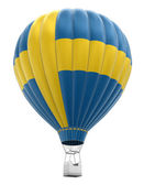 Hot Air Balloon with Swedish Flag (clipping path included) — Stock Photo