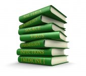 Virus books related (clipping path included) — Stock Photo