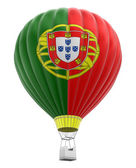 Hot Air Balloon with Portuguese Flag (clipping path included) — Stock Photo