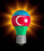 Light bulb with Azerbaijan flag (clipping path included) — Stock Photo