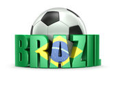 Soccer  ball and Brazil — Stock Photo