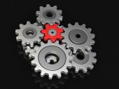 Cogwheels (clipping path included) — Stock Photo