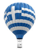 Hot Air Balloon with Greek Flag (clipping path included) — Stock Photo