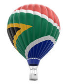 Hot Air Balloon with South African republic Flag (clipping path included) — Stock Photo