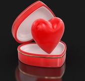 Heart in heart box (clipping path included) — Stock Photo