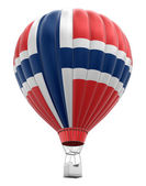 Hot Air Balloon with Norwegian Flag (clipping path included) — Stock Photo