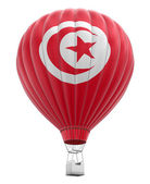 Hot Air Balloon with Tunisian Flag (clipping path included) — Stock Photo