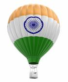 Hot Air Balloon with Indian Flag (clipping path included) — Stock Photo