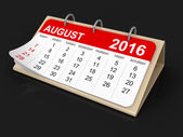 Calendar -  August 2016 (clipping path included) — Stock Photo