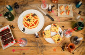 Halloween party food — Stock Photo