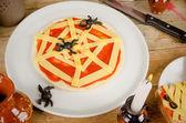 Halloween pizza — Stock Photo