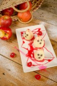 Fruity Halloween dessert — Stock fotografie