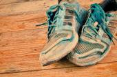 Worn sports shoes — Foto Stock