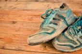 Worn sports shoes — ストック写真