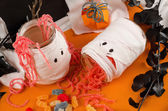 Funny Halloween candy — Stock Photo