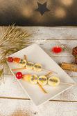 Christmas dessert for kids — Stock Photo