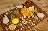 Citrus fruit based cosmetics — Stock Photo