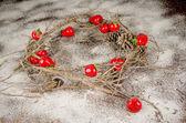 Rustic Christmas decoration — Stock Photo
