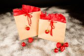 Christmas Shopping bags — Stockfoto