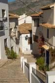 Vecchia via della città Altea — Foto Stock