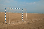 Beach soccer goals — Stockfoto