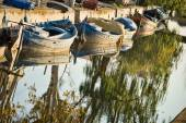 Old fishing boats — Stock Photo