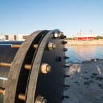 Industrial zone, Steel pipelines — Stock Photo #63821223