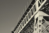 Structure of a railway bridge — Stock Photo
