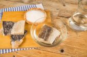 Several pieces of dried cod — Stock Photo