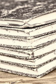 Stack of old ledgers — Foto Stock