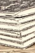 Stack of old ledgers — Stock Photo