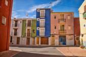 Strada del villaggio mediterraneo — Foto Stock