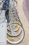 Estación de alquiler de bicicletas — Foto de Stock