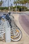 Bicycle rental station — Stock Photo