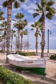 Valencia beach promenade — Stockfoto